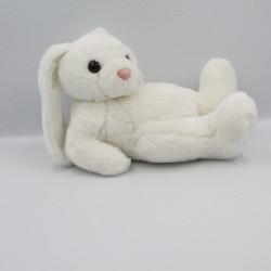 Peluche lapin blanc allongé LDADPR HENG & FELICIANO