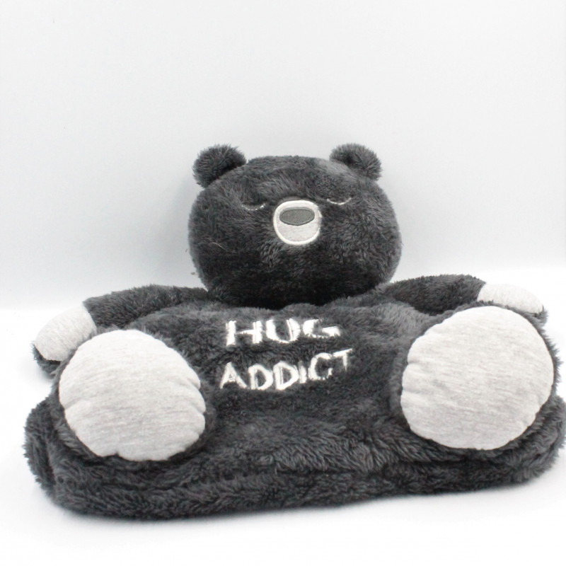 Doudou range pyjama ours noir gris GRAIN DE BLE