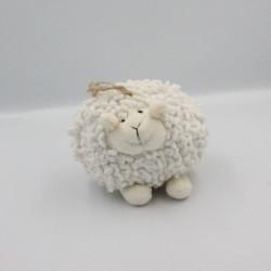 Doudou boule mouton blanc JARDIN D'ULYSSE