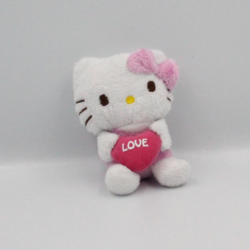Doudou chat HELLO KITTY rose coeur love SANRIO LICENSE