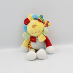 Doudou lion fleur jaune orange vert bleu rouge BABY CUDDLES