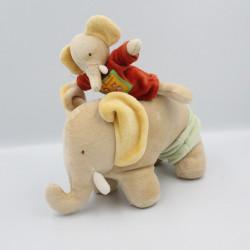 Doudou musical éléphant beige les Loustics MOULIN ROTY