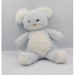 Peluche souris bleu blanche BOULGOM