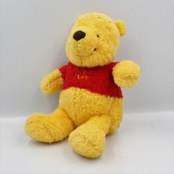 Peluche Winnie l'ourson jaune rouge fourrure DISNEY