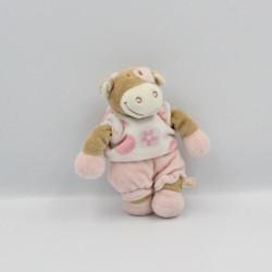 Doudou vache rose rosalie Dotty lola fleurs NOUKIE'S