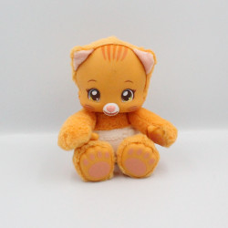 Doudou peluche sonore chat orange couche ZOOPY BAOBAB