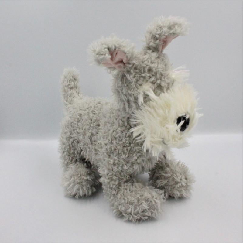 Doudou peluche chien gris blanc JELLYCAT