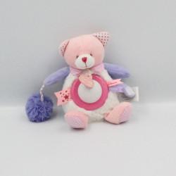 Doudou et compagnie veilleuse chat blanc rose mauve lovely fraise