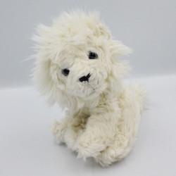 Peluche lion blanc écru