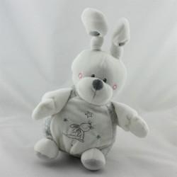 Doudou musical lapin blanc gris KIABI SIMBA TOYS
