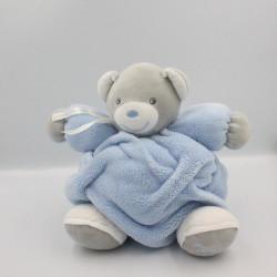 Doudou ours plume gris bleu blanc KALOO