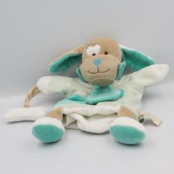 Doudou et compagnie marionnette chien bleu avec os