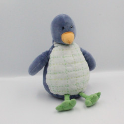 Doudou pingouin bleu vert JACADI