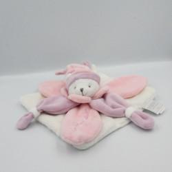 Doudou et compagnie plat ours blanc rose parme Collector J'aime mon doudou