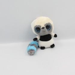 Doudou peluche panda blanc bleu noir YOOHOO
