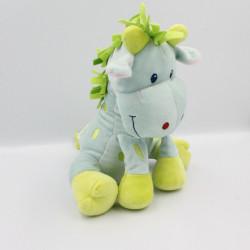 Doudou Girafe bleu vert...