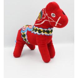 Peluche cheval rouge NORDIC SOUVENIR