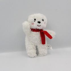 Doudou peluche ours blanc écharpe rouge AUZOU