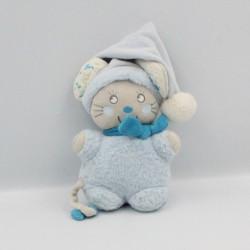 Doudou souris gris bleu blanc NICOTOY