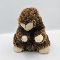 Doudou peluche castor marmotte RODA