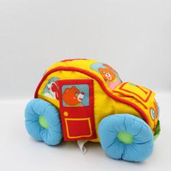 Peluche voiture tissu jaune rouge bleu vert PLAYSKOOL