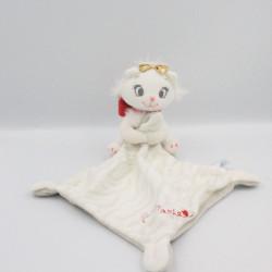 Doudou plat chat blanc Les Aristochats mouchoir Sweet Marie DISNEY