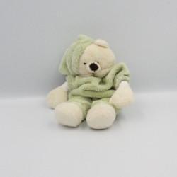 Doudou ours blanc vert CMP