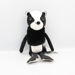 Doudou putois furet noir blanc patins à glace H&M