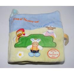 Livre d'éveil en tissu doudou éléphant BABYSUN