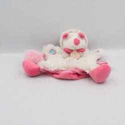 Doudou et compagnie marionnette hérisson blanc beige rose bleu lovely fraise