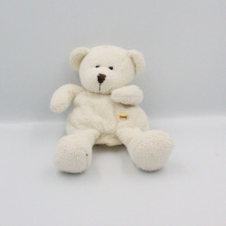 Doudou marionnette ours blanc SUNKID