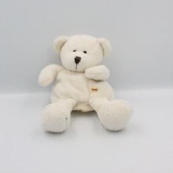 Doudou marionnette ours blanc SUNKID