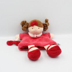 Doudou et compagnie marionnette poupée rose Melle Framboise