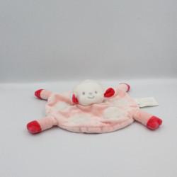 Doudou plat rond mouton rose BRIOCHE
