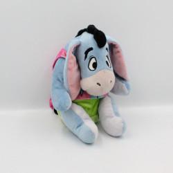 Doudou peluche Bourriquet bleu rose vert couche Disney Nicotoy