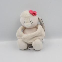 Doudou musical oiseau pingouin beige rose Daisy et Coco NOUKIE'S