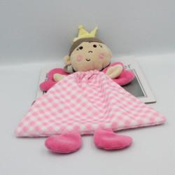 Doudou plat princesse fée rose OSGOOD TEXTILES