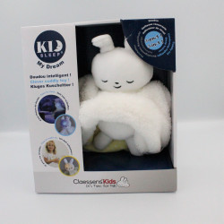 Doudou veilleuse intelligente lapin blanc jaune CLAESSENS' KIDS