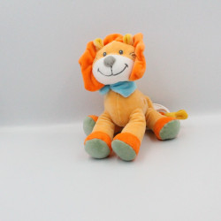 Doudou musical lion orange bleu vert jaune TEX
