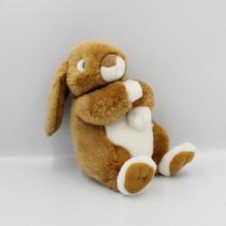 Peluche lapin marron blanc toute douce Pâques GIPSY