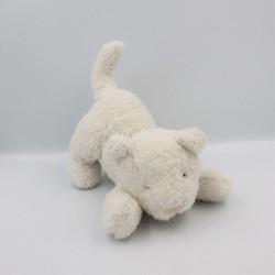 Doudou chat blanc CYRILLUS
