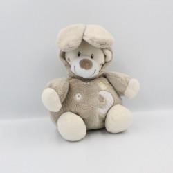 Doudou ours déguisé en lapin beige marron BABY AUCHAN