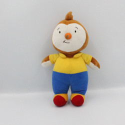 Doudou Tchoupi marron jaune bleu rouge Ajena - Nounours