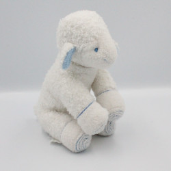 Doudou mouton blanc bleu AVENE
