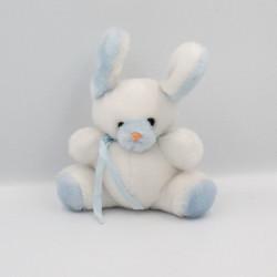 Ancienne peluche doudou lapin bleu blanc SUCRE D'ORGE