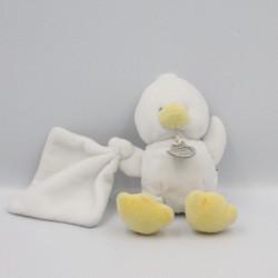 Doudou et compagnie poussin blanc avec mouchoir