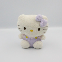 Doudou chat HELLO KITTY blanc mauve rose TY SANRIO