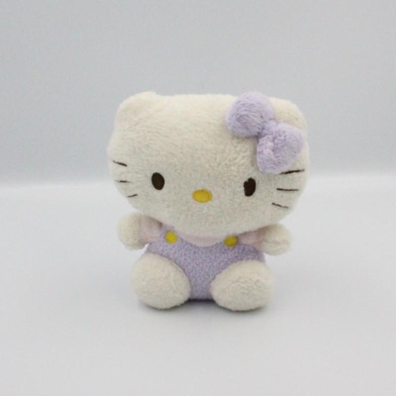 Doudou chat HELLO KITTY blanc mauve rose TY SANRIO