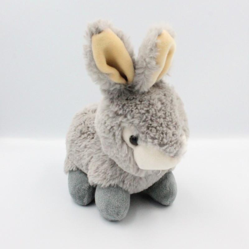 Peluche lapin gris toute douce Pâques