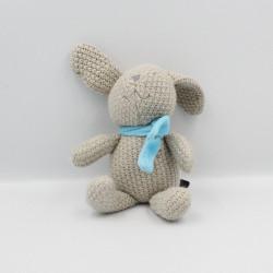 Doudou lapin laine marron écharpe bleu ORCHESTRA PREMAMAN